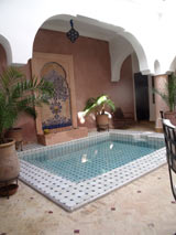 riad marrakech patio
